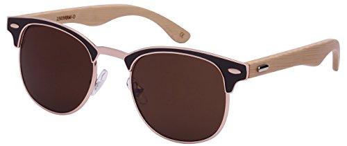 Edge I-Wear Optical P3 Horned Rim Bamboo Sunglasses by