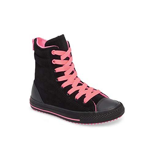 Converse CTAS Hi-Rise Boot X-HI Black/Hot Punch/Almost Black Zipper (4 M US Big Kid)]()