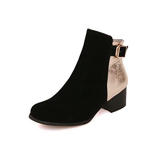 Women's Blend Materials High Top Assorted Color Zipper Kitten Heels Boots