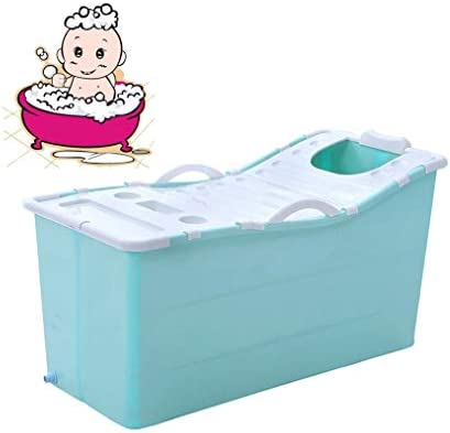 折りたたみバスタブ GYF 折り畳み式バスタブ ポータブル大人用バスタブ プラスチックカバーホーム全身 子供用入浴バケツ 厚くなった大人の浴槽 子供用の大きなプール117x52x63cm (Color : Blue)