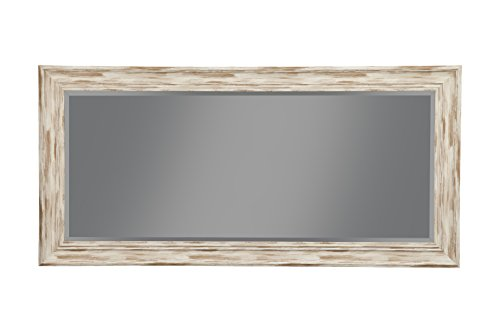 Sandberg Furniture Farmhouse, Full Length Leaner Mirror, Antique White Wash by Sandberg Furniture (Image #1)