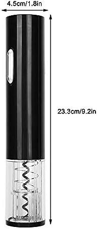Sacacorchos Abridor De Vino Tinto Eléctrico Carcasa De Pc Transparente Abridor Automático De Botellas De Bajo Ruido Que Ahorra Trabajo Negro