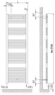 Radiador Toallero Agua Ocean 1720//500 Blanco