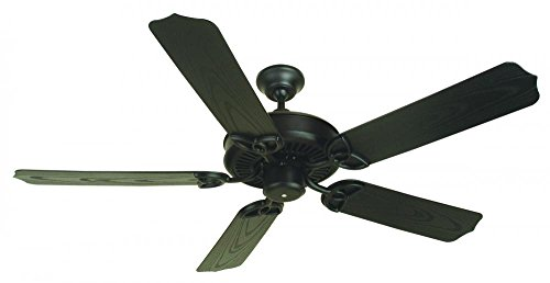 Craftmade OPXL52FB 52-Inch Outdoor Patio Ceiling Fan, Flat Black