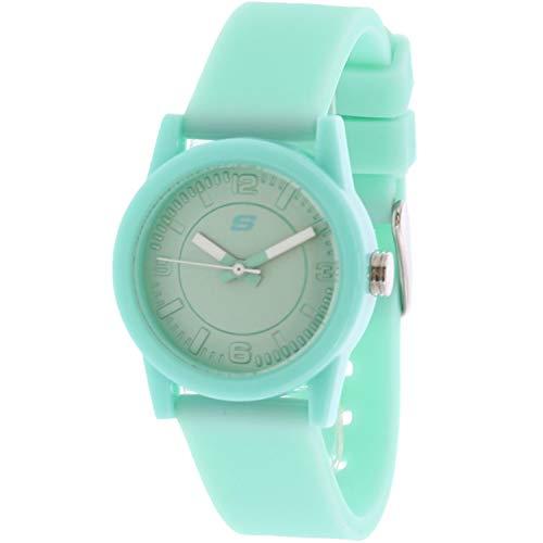 Skechers Women's Rosencrans Mini Quartz Plastic and Silicone Casual Watch Color: Mint Green (Model: SR6035) (Mint Watch)