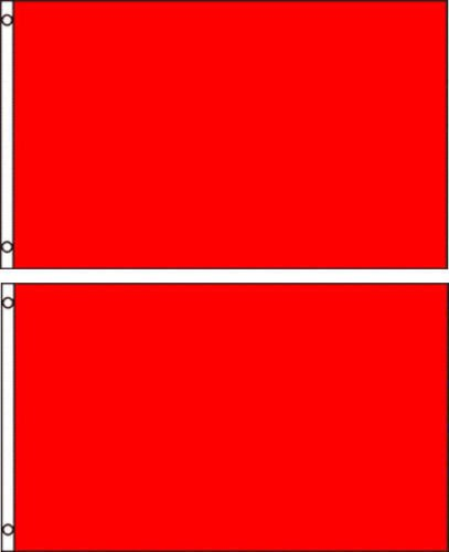 (2 pack lot) 2x3 Red Solid Plain Blank Color Flag 2'x3' Banner Grommets Ant Enterprises