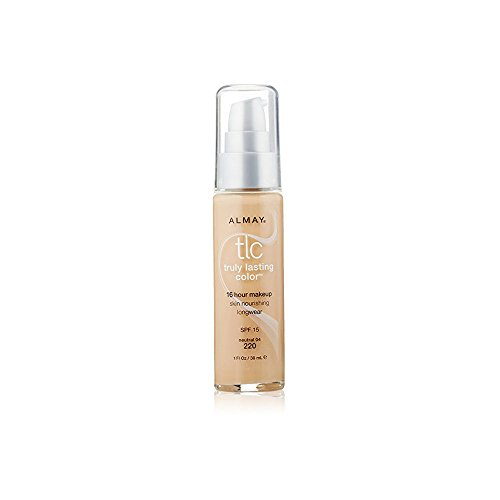 Almay Truly Lasting Color Foundation Makeup, Neutral, 1 fl. oz., SPF 15 Broad Spectrum