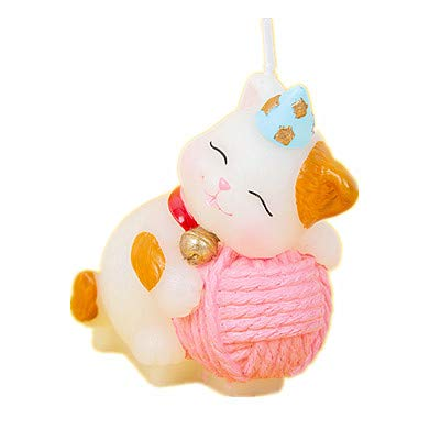 Adorable Kitty Cat Birthday Candle Cake Topper Kitty Party Decoration Baby Shower -