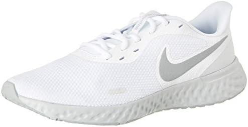 Nike Revolution 5 Men's Road Running Shoes,White (White/Wolf ...