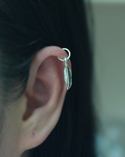 701a62d0e7411 Hoop Earring, 20gauge Sterling silver Cartilage hoop with - Import It All