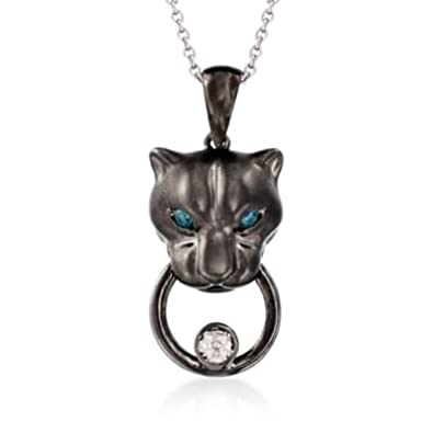 white diamond effy black panther gold product pendant emerald