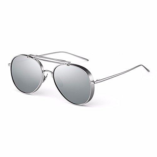 Silver en XIAOGEGE sol personalidad plata sol gafas de las de femenina Gafas qqSZTRwxO