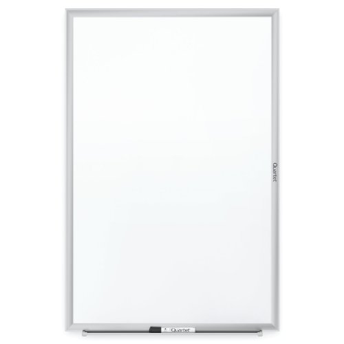 low-cost Quartet Whiteboard, Standard, 4' x 3' Dry Erase Board, Silver Aluminum Frame White Board (S534)