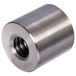 Round trapezoidal leadscrew nut stainless 1.4305 Tr.20x4 single start right length=30mm, outer diameter=45mm by Maedler