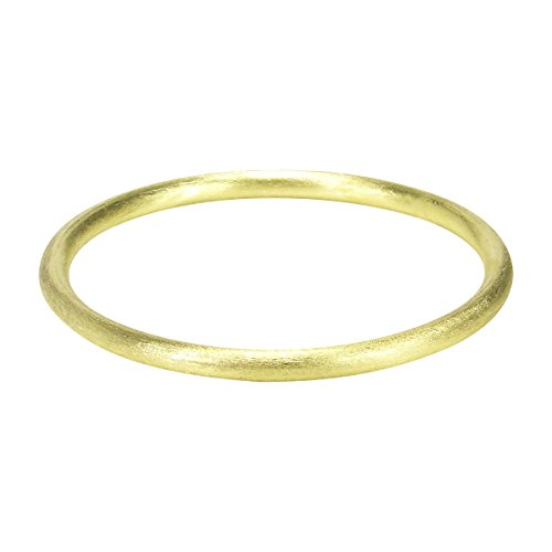 Sheila Fajl Round Tubular Brush Bangle in Brush Gold Plated