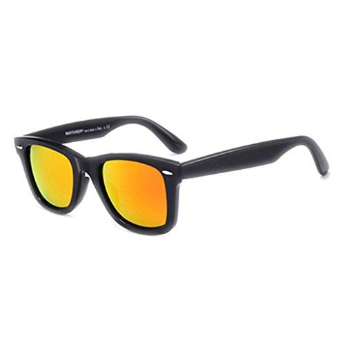 Box Sol UV Moolo de Sra Driver is Gafas Blue Gafas red Gafas Big HLMMM Vidrio Sol Fashion Hombres Protección UVA Color frame Black Confort HD de Black 1ZwfCzZqnr