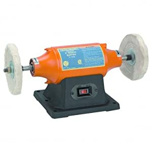 6 inch Benchtop Buffer Heavy Duty 1/2 HP; Includes two buffing wheels