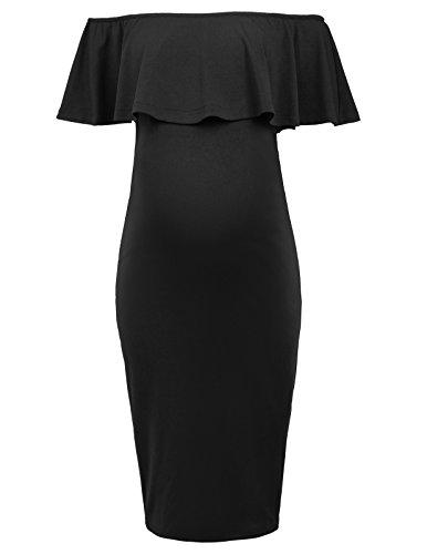 Sleeveless Black Maternity Dress - 3