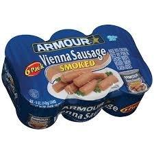 Chicken Smoked Sausage - Armour Vienna Sausage Smoked (6-4.6oz Cans) (Case of 1)