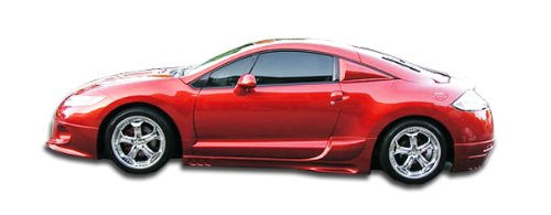 Duraflex Replacement for 2006-2012 Mitsubishi Eclipse Racer Side Skirts Rocker Panels - 2 Piece