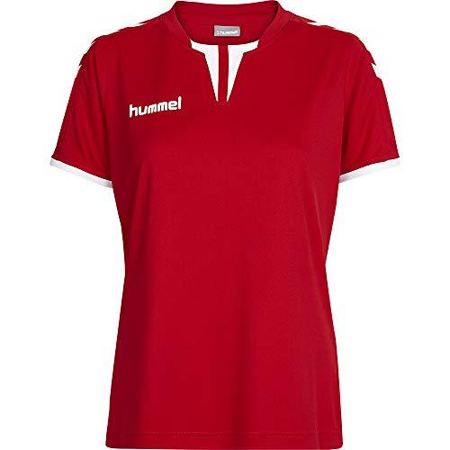 Camiseta Feminina Clássica Com Detalhes Na Gola Vermelha Gg