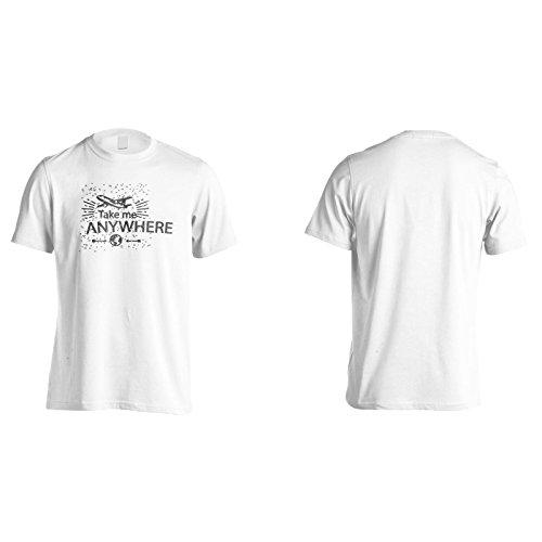 Neue Nehmen Mich Überall Reisen Herren T-Shirt l965m