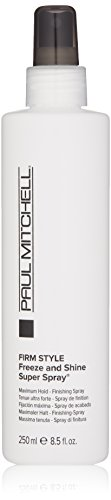 Freeze Super Hold Spray - Paul Mitchell Freeze and Shine Super Spray Firm Hold Finishing Spray for Unisex, 8.5 oz