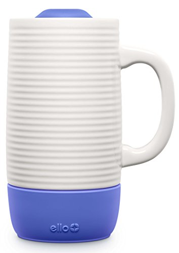 Ello Jane Ceramic Travel Mug with Slider Lid |18 oz | Denim ()