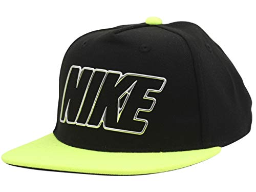 Nike Little Boy's Crystal Club Volt/Black Snapback Baseball Cap Hat Sz: 4/7 (For Nike Women Hats Snapback)