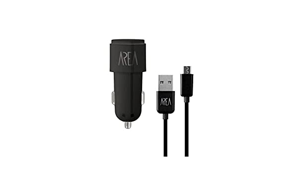 AREA PC24A1UKMICK Auto Negro - Cargador (Auto, Encendedor de Cigarrillos, 5 V, 2,4 A, Negro): Amazon.es: Electrónica