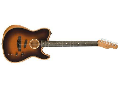 Fender American Acoustasonic Telecaster Acoustic-Electric Guitar Sunburst (Best Acoustic Guitar Amp 2019)