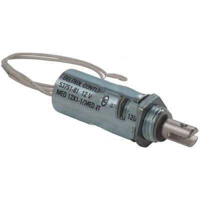 Deltrol Controls 53761-87 Solenoid Tubular MED12X1.5 12VDC Push Intermittent Duty 15W Wire leads