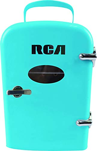 - Compact refrigerators by RCA - Multi Colors, Office Product, small meal cool, Beverage, Drinks (Blue)
