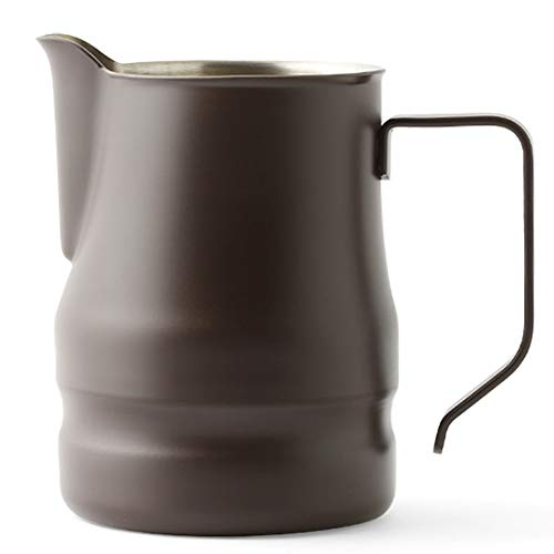 Ilsa Evolution Milk Frothing Pitcher Professional Latte Art Milk Steaming Jug Stainless Steel, Coffee Grey - 750ml / 25oz by Ilsa (Image #3)