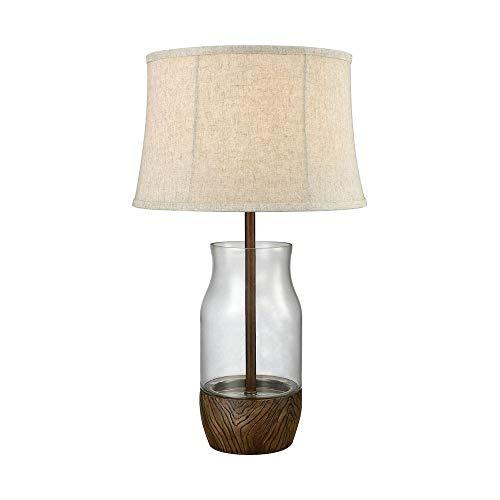 Elk Lighting D3287 Table-Lamps, Clear, Wood ()