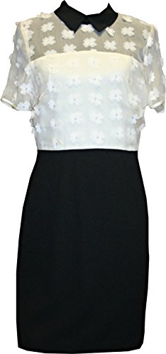 karl-lagerfeld-womens-dress-flower-applique-white-off-and-black-color-size-8