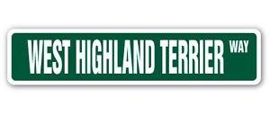 WEST HIGHLAND TERRIER Street Sticker dog puppy breeder pet yard beware gift
