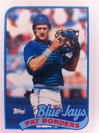 (1989 Topps #693 Pat Borders Toronto Blue Jays RC Rookie Baseball Card)