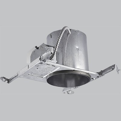 Progress Lighting P87-LED 6-Inch LED New Construction Recessed Housing, Air Tight, IC