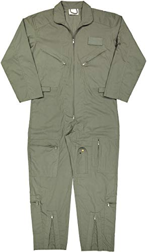 Us Airforce Uniform (Army Universe Air Force Flight Suits, US Military Type Coveralls, Uniform Overalls/Jumpsuits Pin (Foliage Green,)