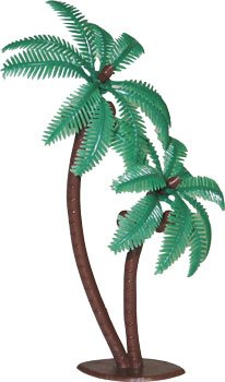Cake Decorating Pick Cake Topper Cupcake Decorator (Twin Coconut Palm Tree)12pk Cake Decorating Toppers
