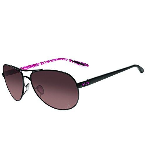 Oakley Women's Feedback OO4079-13 Aviator Sunglasses, Polished Black, 59 - Sunglasses For 2015 Top Women