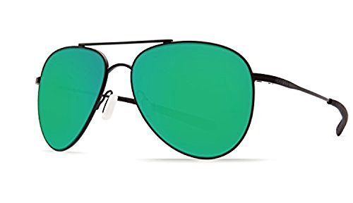 Costa Cook Sunglasses Satin Black / Green Mirror 580P & Cleaning Kit Bundle