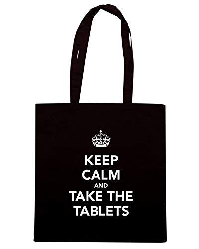 Nera TAKE Borsa Shirt Speed AND KEEP THE TABLETS CALM TKC1098 Shopper 1wt1nq58p