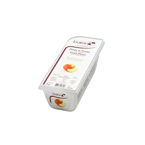 White Peach Fruit Puree Frozen - 2 x 1 Kilo Per Case