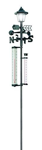 152,4cm Tall. All-in-One estación meteorológica solar con luz solar powered–Medidas Nieve, Lluvia, Y La Velocidad...