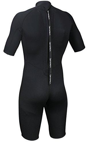 Lemorecn Wetsuits Adult's Premium Neoprene Diving Suit 3mm Shorty Jumpsuit