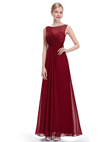 Ever-Pretty - Vestido - para mujer granate