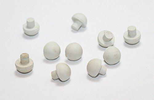 White Piano Cabinet Bumper Rubber Bumper 7/16