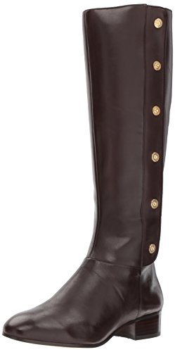 Nine West Women's Oreyan Knee High Boot, Dark Brown, 7.5 Medium - West Boots Nine